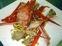 トレネッテ 紅ズワイガニとバジル、フレッシュトマトのソース